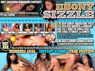 Ebony Sizzle - The Hottest Ebony Girls In XXX Action!!